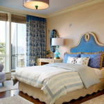 Exotic Small Simple Master Bedroom Decorating Ideas Blue Curtains
