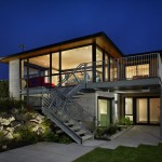 Exposed Concrete Style Modern Home Plans Design