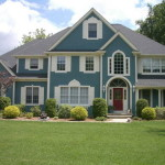 Exterior House Painting Ideas Blue And White Color Scheme