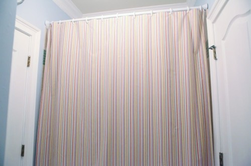 Extra Long Shower Curtain From Flat Sheet New House Ideas