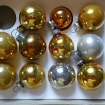 Feather Small Christmas Tree Ornaments Glass Bells Balls Lot