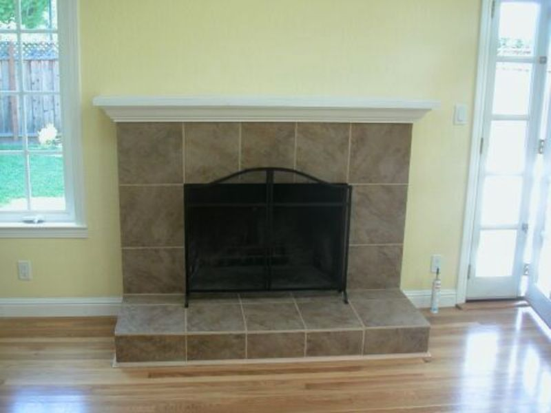 Fireplace Designs Tile Painted Brick Before This