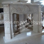 Fireplace Mantel Detailed Info For White Marble Carving