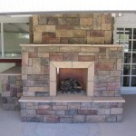 Fireplace Stone Veneer Retaining Wall