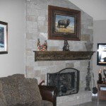 Fireplace Update Redid Our And Wanted Share Love