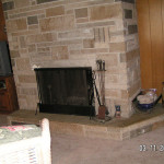 Fireplace Update This Stone Was Complete Demo The
