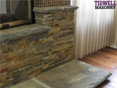 Fireplaces Outdoor Fireplace Hardscape Refacing Stone Brick