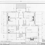 First Floor Plan Captain Lewis Meredith House Murfreesboro North