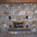 Flagstone Fireplace After