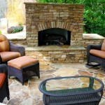 Flagstone Patio Ventless Outdoor Fireplace Spaces