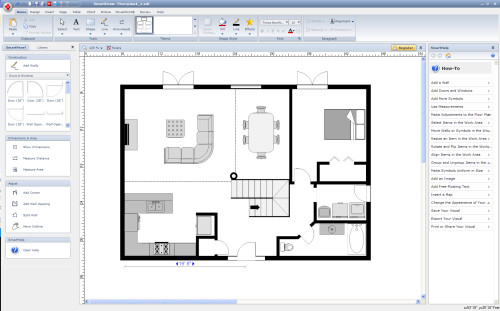 Floor Plan Drawn Smartdraw Prida