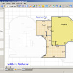 Floor Plan Layout Tile Placement Basement Main And