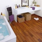 Floors And Creative Designs Are Making Wood Bathrooms Viable