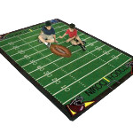 Football Fans Gather Handsome Area Rug Features Full Field