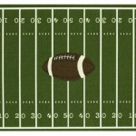 Football Field Area Rug Green