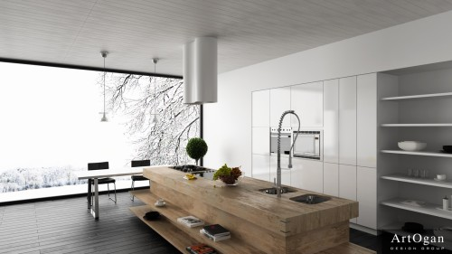 For Contemporary Kitchens Designs Wood Block Kitchen Island Design