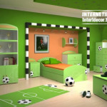 For Cool Room Soccer Bedroom Theme Green Schemes