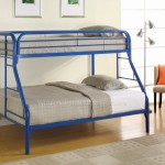 Fordham Blue Twin Over Full Metal Bunk Bed True Contemporary