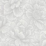 Free Delivery Flourish White Silver Floral