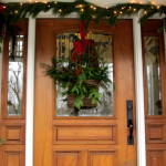 Front Door Decorated For The Christmas Holidays Louise