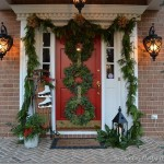 Front Porch Decorated For Christmas Triple Holid