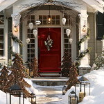 Front Porch Decorated Ideas For Christmas