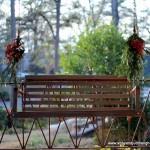 Front Porch Swing Decorated For Christmas