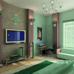 Funky Cool Fashionable Green Bedroom Interior Decoration Ideas