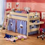 Funny Play Beds For Cool Room Design Blue Red