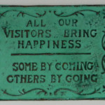 Funny Visitors Sign Home Decor Pantina Metal Cast