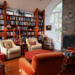 Furniture Conventional Custom Home Library Design