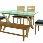 Furniture Countrywide Cadiz Glass Top Dining Table