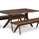 Furniture Dining Room Tables Audrey Walnut Solid Top