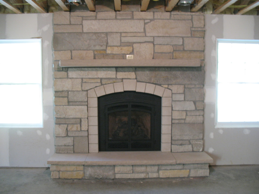 Gallery More Stone Fireplaces Basement Fireplace