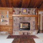 Gas Fireplace Stone Face