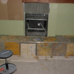 Gas Fireplace The Same Slate Kitch Flooring Hearth