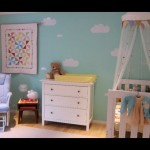 Gender Neutral Vintage Inspired Baby Room Using Aqua
