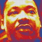 Giant Rubik Cube Mosaic Martin Luther King Modern