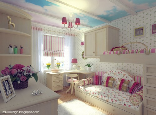 Girls Bedroom Design Ideas Fascinating Full Wall Decal