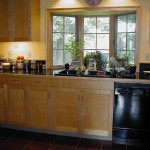 Glass Door Cabinets Were Designed For Storing Tableware Between The