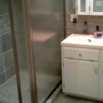 Glass Enclosed Shower Norton Stone Tile