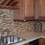 Glass Tile Backsplash Kitchen Counter