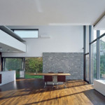 Glass Windows Wall Natural Stone Lamp Home Architects Ultra Homes