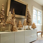 Gold Christmas Interior Decorating Ideas