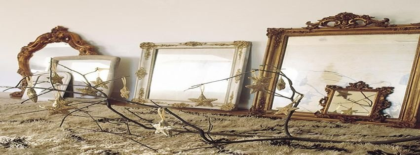 Gold Mirrors Silver Leaf Accessories Home House Eclectic Decor Decorat