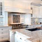 Granite Against White Cabinets And Use Marble Backsplash Tile