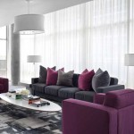 Gray Color Modern Combination For Living Room Design