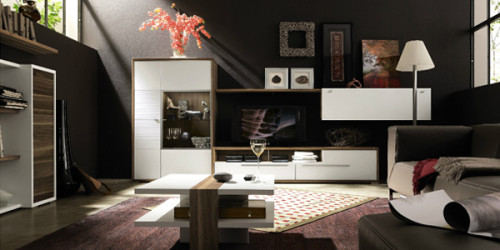 Great Room Furniture Layout Black Wall