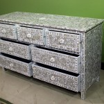 Grey Mother Pearl Inlay Drawer Large Chestof Drawers