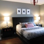 Grey Wall Wooden Floor Typical Motive Bed Sheet Bedroom